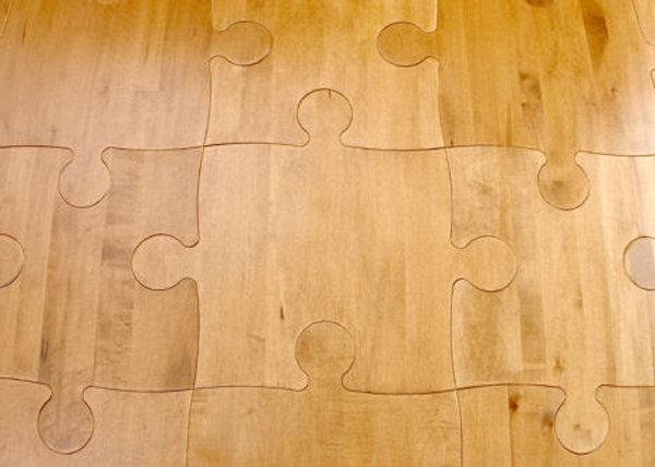 Parket u obliku slagalice - puzle